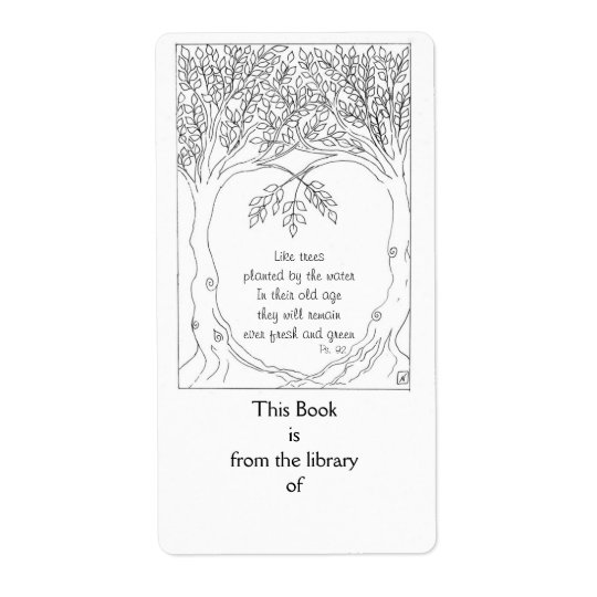 Bookplate: Psalm 92 Shipping Label