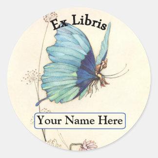 Bookplate Round Sticker