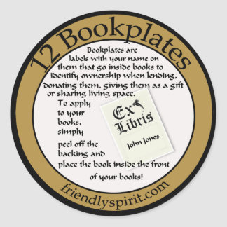 bookplate sticker for orders
