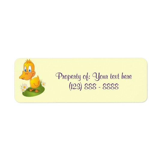 Bookplate stickers for school return address label