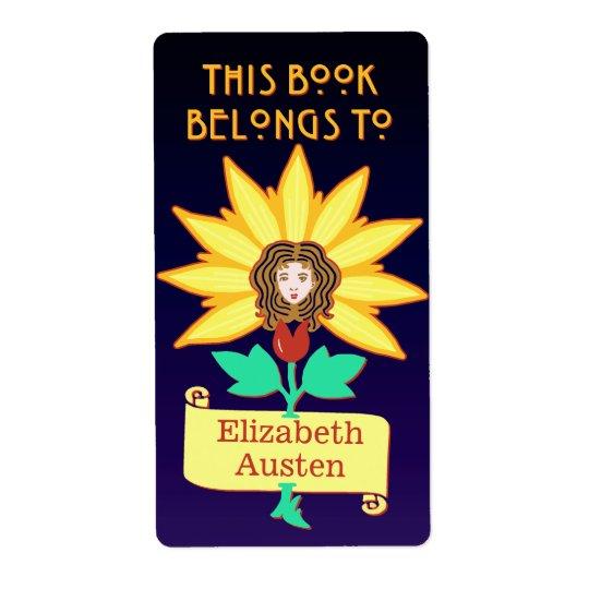 Bookplate This Book Belongs to Art Nouveau Flower