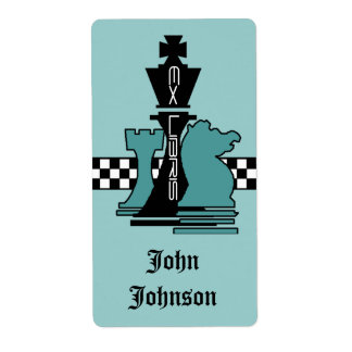 Bookplates Ex Libris Chess Game Pieces King Rook