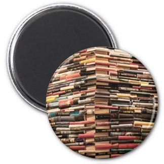 Books 2 Inch Round Magnet