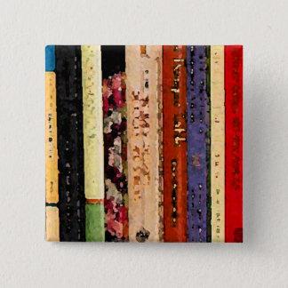 Books 2 Inch Square Button
