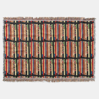 Books Abstract Throw Blanket