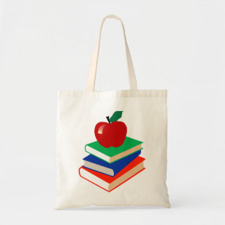 Books and Apple Tote Bag