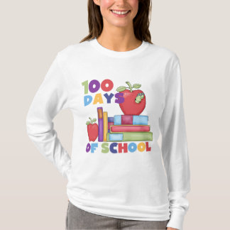 Books and Apples 100 Days of School Tshirts
