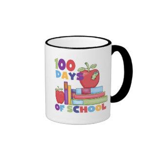 Books and Apples 100 Days of School Tshirts Coffee Mugs