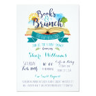 Books and Brunch Baby Shower Invitation - Blue