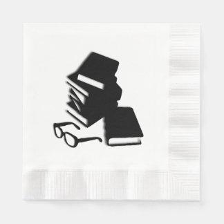 Books and Glasses Paper Napkin