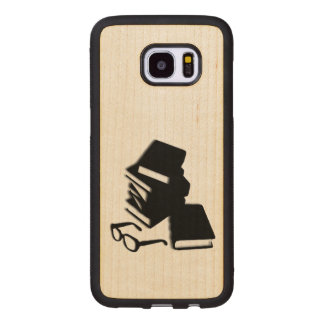 Books and Glasses Wood Wood Samsung Galaxy S7 Edge Case