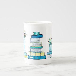 Books and Tulips Mug