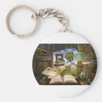 Books are knowledge! keychain