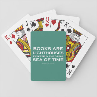 Books Are Lighthouses Poker Deck