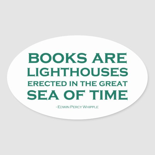 Books Are Lighthouses Oval Sticker