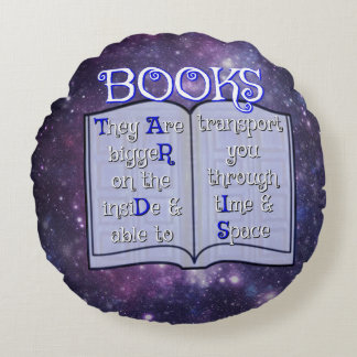 Books are... round pillow