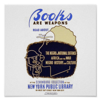 """Books Are Weapons"" Poster"