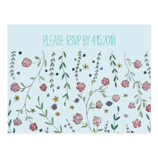 Books & Blossoms RSVP Cards