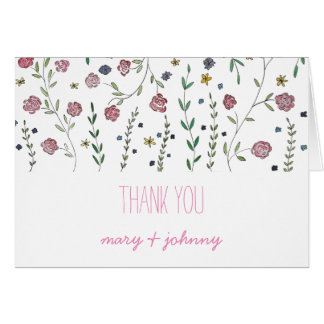 Books & Blossoms Thank-You Notes