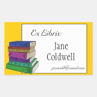 Books Bookplate or Ex Libris Sticker