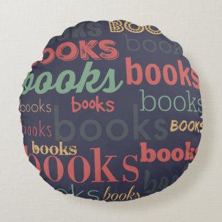 Books Books Books! Round Pillow