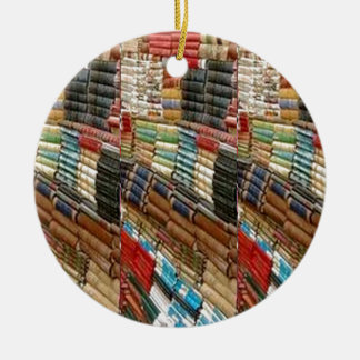 BOOKS Bookworm Library Read Learn Bookshelf GIFTS Round Ceramic Ornament