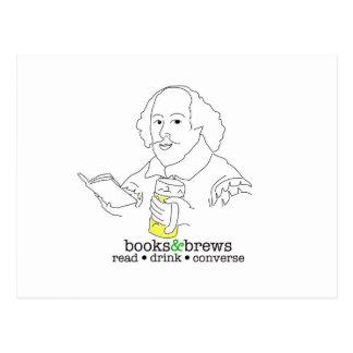 Books & Brews Logo Postcard