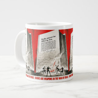 Books Can't Be Killed By Fire Jumbo Mugs