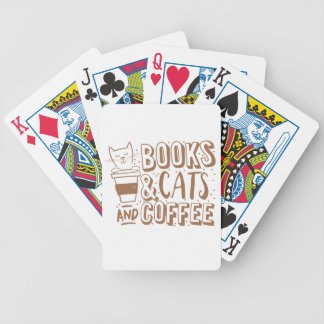 books cats and coffee bicycle playing cards