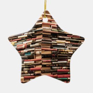 Books Ceramic Ornament