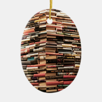Books Ceramic Ornament