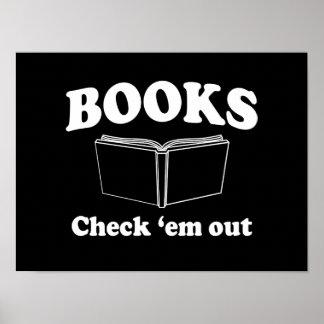 Books: Check 'em Out Poster