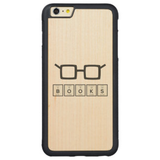 Books chemcial Element Nerd glasses Zh6zg Carved Maple iPhone 6 Plus Bumper Case