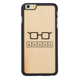 Books chemcial Element Nerd glasses Zh6zg Carved Maple iPhone 6 Plus Case