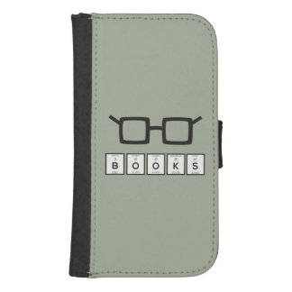 Books chemcial Element Nerd glasses Zh6zg Samsung S4 Wallet Case