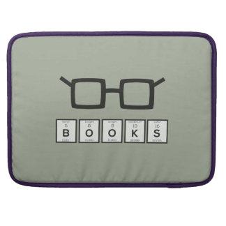 Books chemcial Element Nerd glasses Zh6zg Sleeve For MacBooks