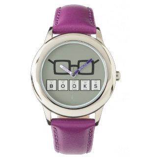 Books chemcial Element Nerd glasses Zh6zg Watch