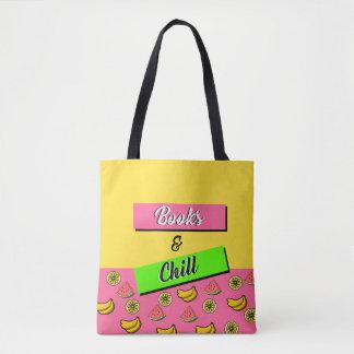 Books & Chill Tote Bag