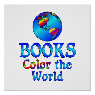 Books Color the World Poster