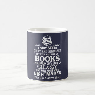 BOOKS CRAZY COFFEE MUG