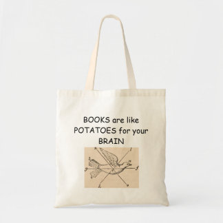 Books feed your head tote bag