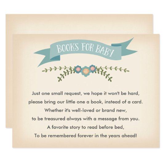 Books for baby - Baby Shower Card