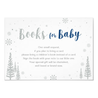 Books for Baby, Book Request, Baby Shower Activity Card