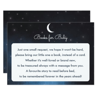 Books for baby Starry Night Baby Shower Card