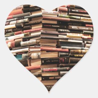 Books Heart Sticker