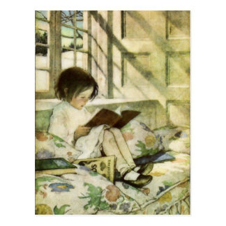 Books in Winter by Jessie Willcox Smith Postcard