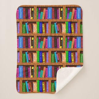 Books Library Bookshelf Pretty Pattern for Readers Sherpa Blanket