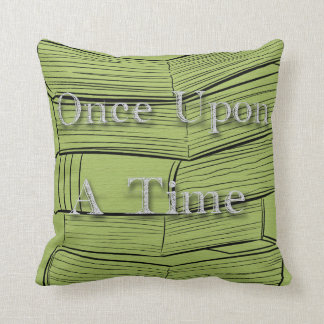 "Books Library ""Once Upon A Time""Nursery Decorative Throw Pillow"