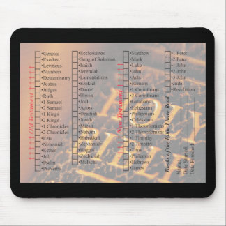 Books of the Bible check off list Mousepad