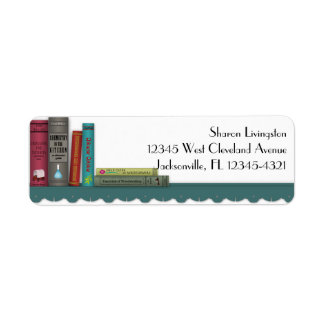 Books on a Shelf Label